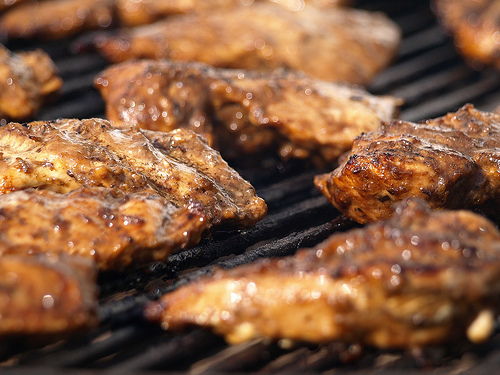 Grilled Boneless Marinated Flat Chicken